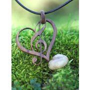 A szív hangja - fa ékszerek