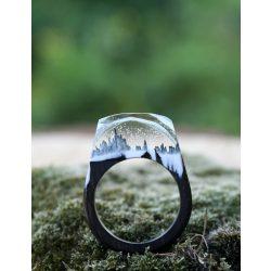 Fa és gyanta gyűrű #50