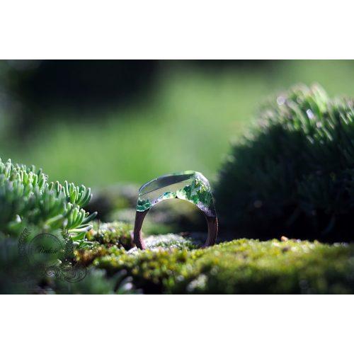 Fa és gyanta gyűrű #40