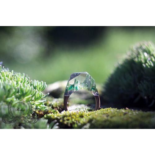 Fa és gyanta gyűrű #42