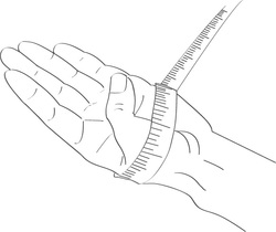 Kézfej mérése